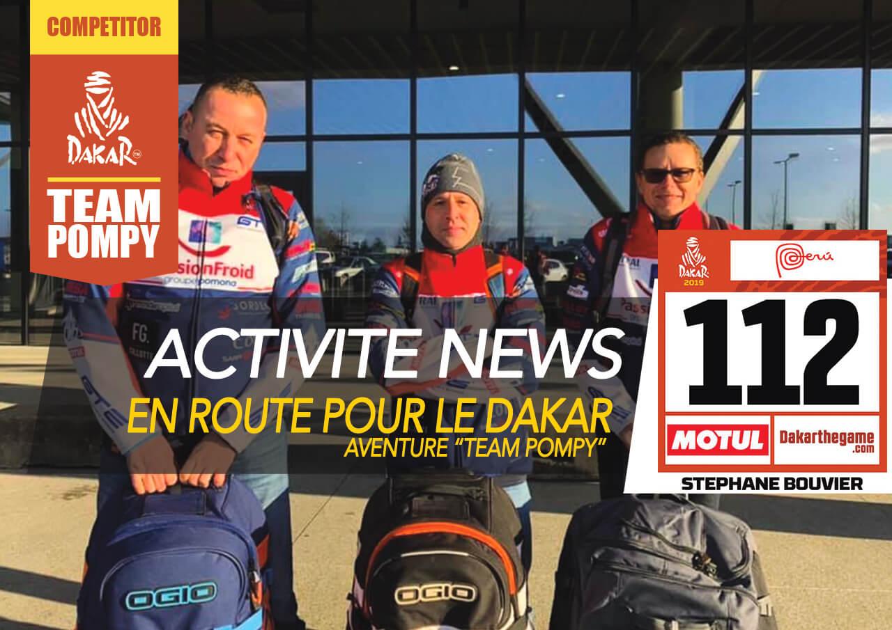 news du team pompy au dakar 2019